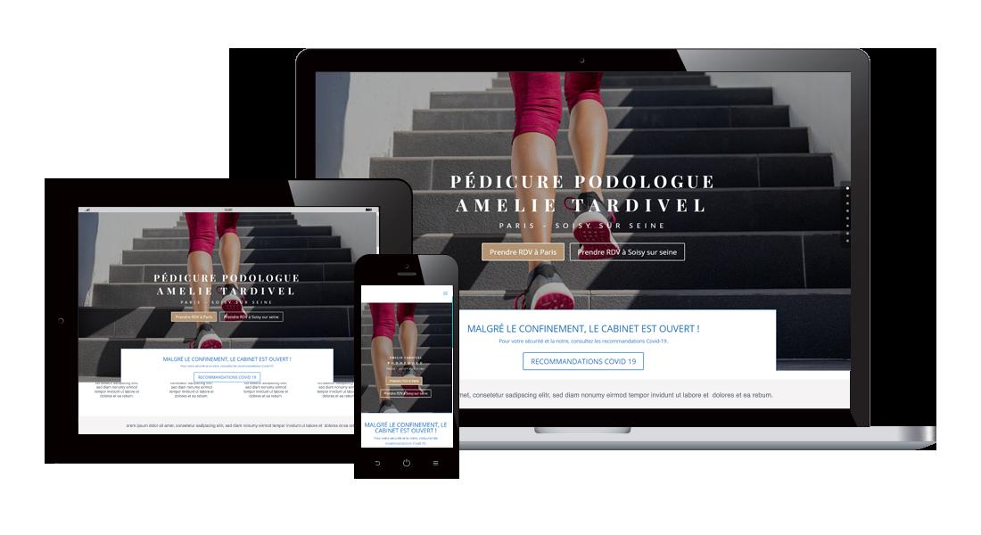 responsive amelie Site Podologie