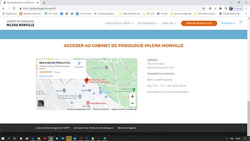 screen1monville Site Podologie