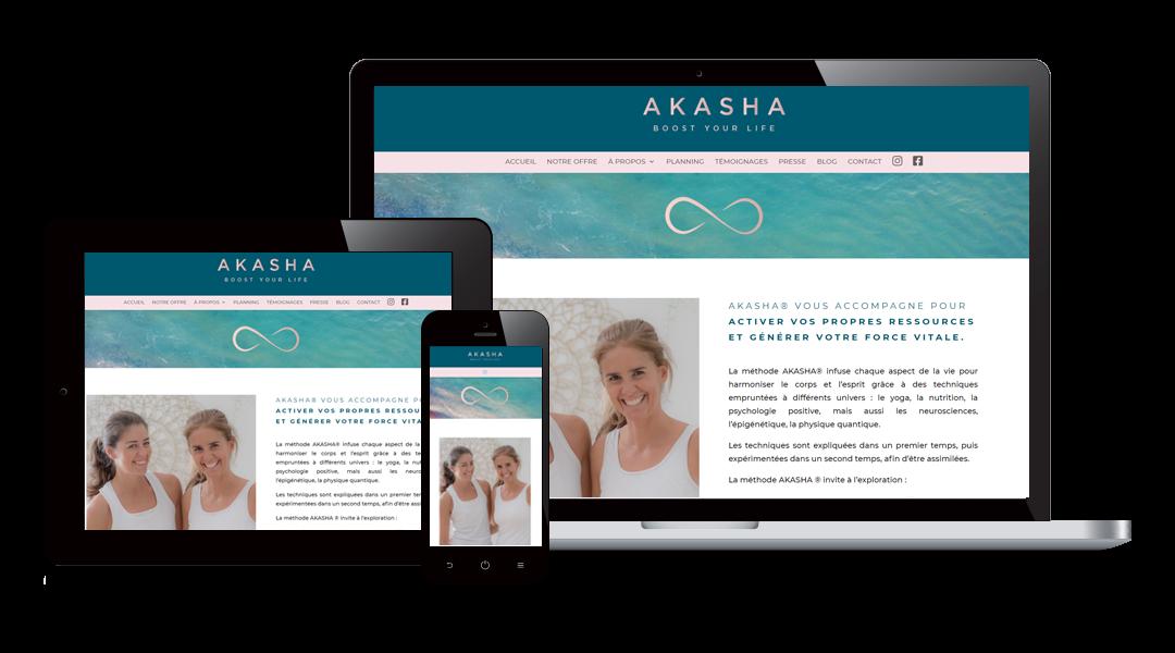 Création site Yoga : akashaparis.fr
