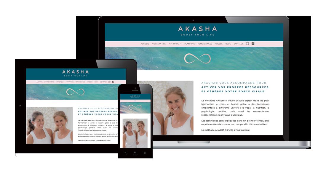 responsive akashayoga Création de sites PME